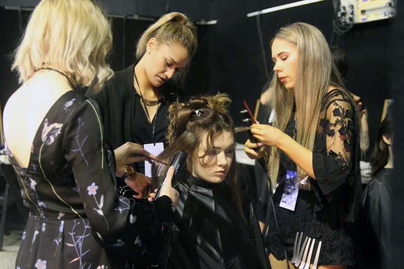 Caitlin Key, Savannah Stevens, and Toni Sloan at NZ Fashion Week