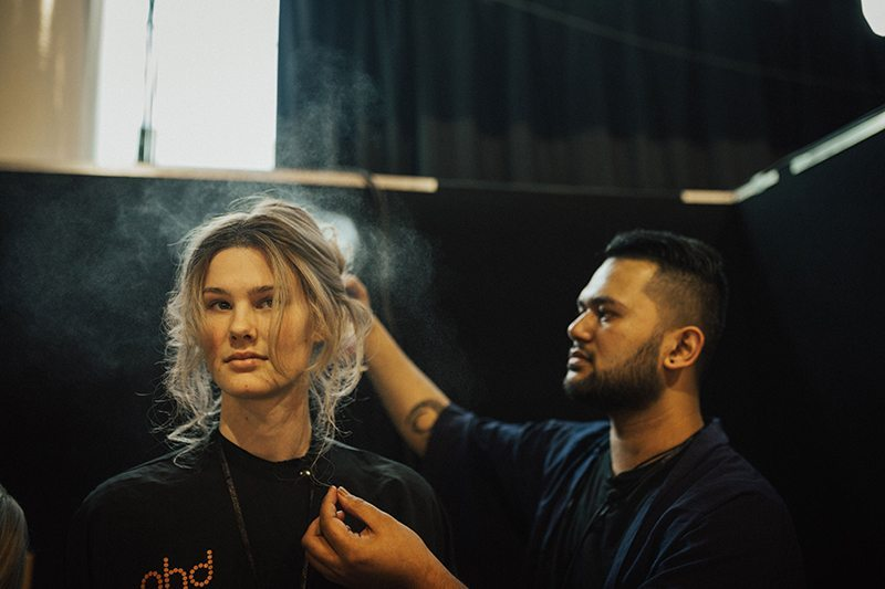 Shelby Frankhauser and Carew Paki at NZ Fashion Week